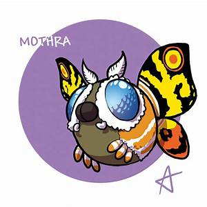 Chibi Mothra by Andrea-Verga on DeviantArt