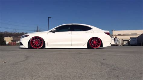 bagged  acura tlx vossen wheels youtube