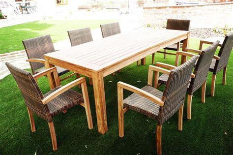 hemsworth  seater teak rattan garden furniture set