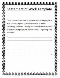 statement of work done template free word templates With how to write a statement of work template