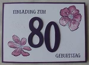 Besinnliches Zum 80 Geburtstag : stempelnorden einladung zum 80 geburtstag ~ Frokenaadalensverden.com Haus und Dekorationen