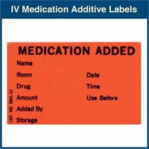iv medication added labels With iv medication labels