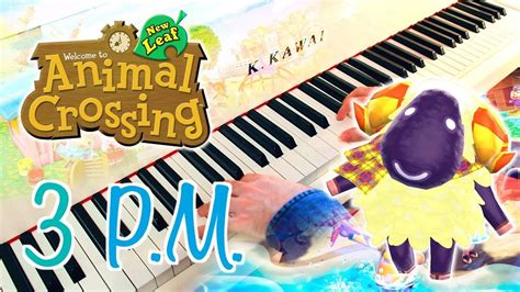 pm animal crossing  leaf piano cover  sheet