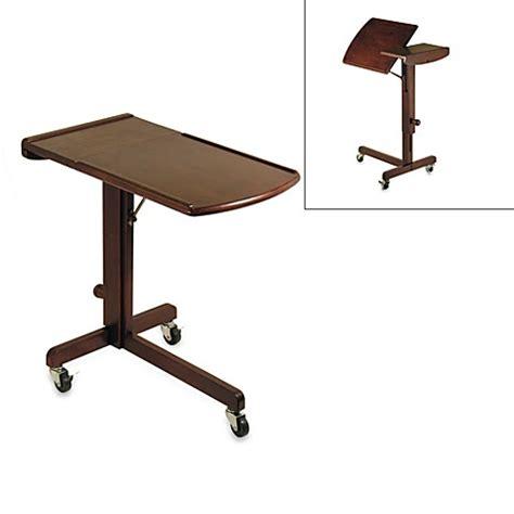 bed bath and beyond desk l antique walnut adjustable laptop desk bed bath beyond