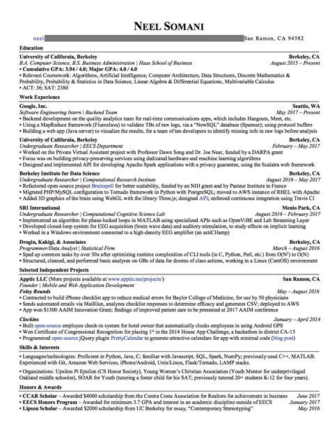 resume   internship offers  google nsa