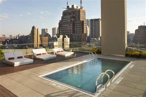 amazing hotel  rooftop pools  nyc
