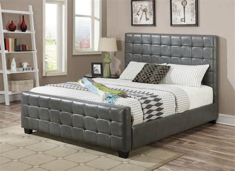 Coaster 300037ke Grey Eastern King Size Leather Bed