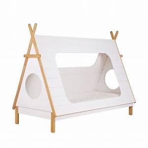 Cadre Lit Bois : cadre de lit enfant bois avec sommier tipi drawer ~ Teatrodelosmanantiales.com Idées de Décoration