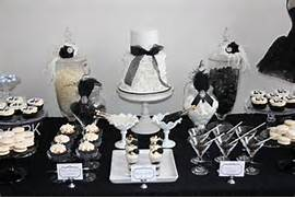 Table Decorations Black And White Theme Lovely Black And White Treats Like This One From Chic Style Events