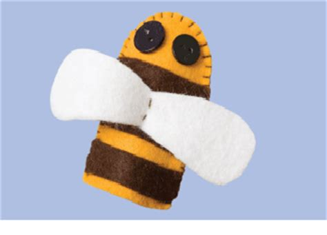 Bee Finger Puppet Template by Baby Bees House Crafty Bee Stuff