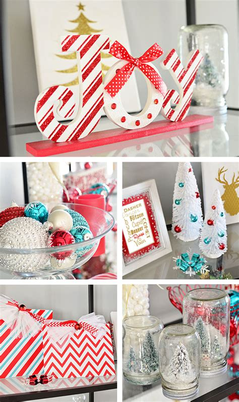 turquoise and red christmas decor home tour tidymom