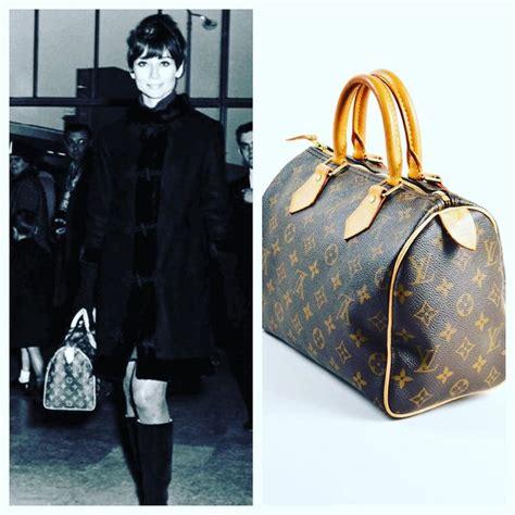 audrey hepburn carrying  louis vuitton speedy bag  timeless classic    louis