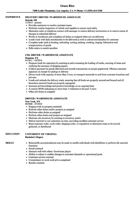 Driver  Warehouse Associate Resume Samples  Velvet Jobs. Sample Resume Hr Generalist. Software Engineer Resume Sample Experienced. Resume For Sales And Marketing In Word Format. How To Do Cover Letter For Resume. Sample New Grad Nurse Resume. Security Officer Description For Resume. Resumes For College Students Still In College. Resume Format For Freshers Pdf