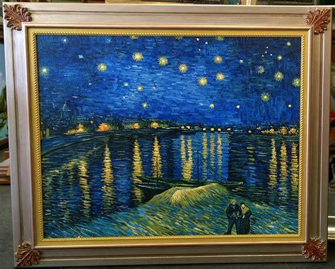 van gogh notte stellata sul rodano starry night rodano
