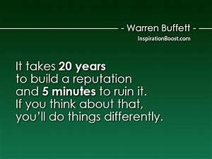 Warren Buffett ... Reputation Worth Quotes