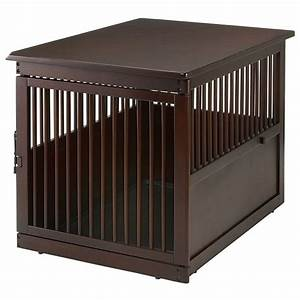 richell end table dog crate large With big dog crates