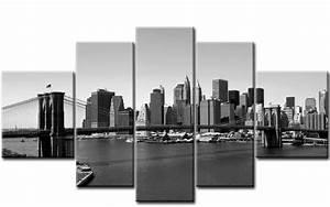 Leinwandbilder Schwarz Weiß : new york 5 bilder leinwand schwarz weiss m50405 die leinwandfabrik ~ Markanthonyermac.com Haus und Dekorationen