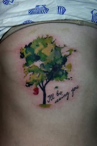 watercolor tree tattoo designs ideas  meaning