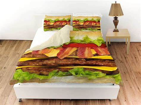 burger bed cheeseburger bed sheets awesome stuff to buy