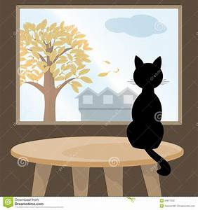 Cat on The Table Clipart (16+)