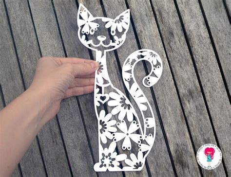 Are you searching for paper cut png images or vector? Cat paper cut SVG / DXF / EPS files and a printable ...
