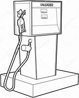 Gas Pump Petrol Drawing Coloring Sketch Line Stove Pages Premium Template Depositphotos Vector Getdrawings Freeimages sketch template