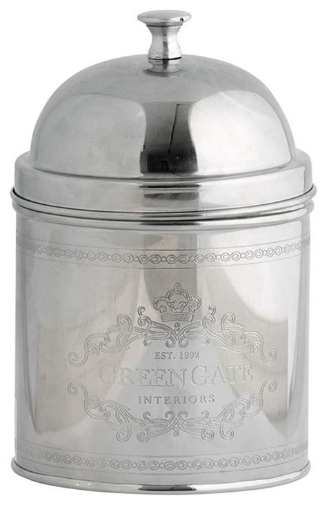 silver kitchen canisters greengate silver canister with knob amelie