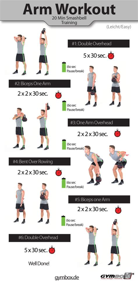 kettlebell workout biceps triceps arm workouts arms exercises strength routines fat