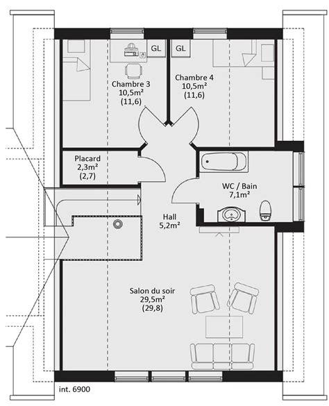 plan maison bois plain pied 4 chambres plan maison en bois catalogue plain pied scandinavia