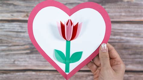 pop  tulip card beautiful mothers day pop  card