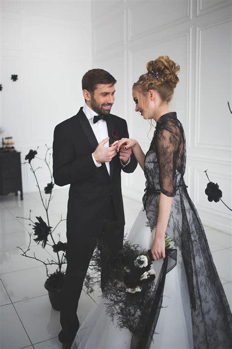 black  white wedding dress   magic black wedding