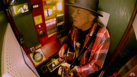Neil Young & Jack White Cut A Record Live On The Tonight