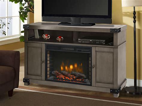 hudson media console  dark weathered grey  firebox