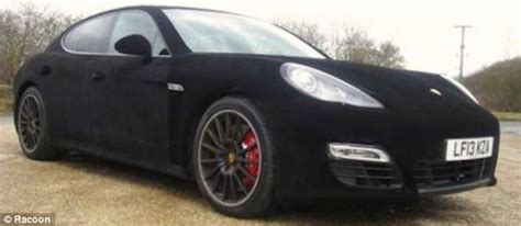 velvet car the 100k porsche panamera wrapped in velvet daily mail