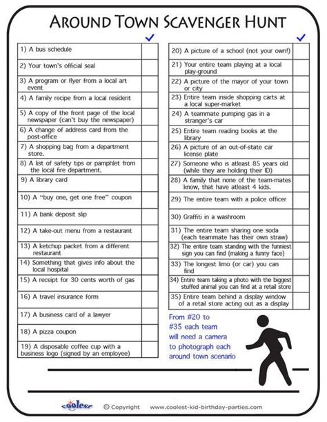 scavenger hunt clues for free printable scavenger hunt previous printable next