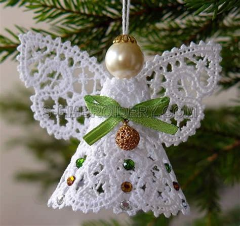Christmas Angel Battenburg Lace Machine Embroidery Sku10489