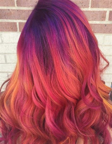 Warm Colors Of Pinks Reds Oranges And Purples To Make