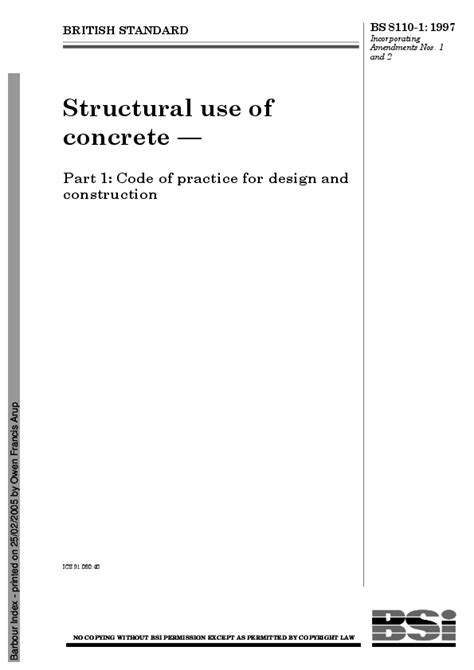(PDF) Structural use of concrete — Part 1: Code of