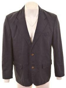 rohan mens  button blazer jacket size  xl navy blue