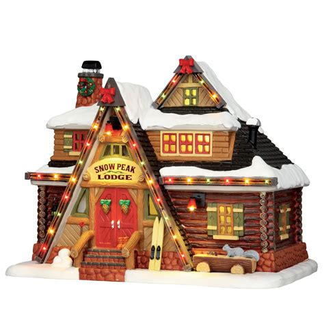 lemax christmas collection lemax collection building snow peak lodge with 4 5v adaptor