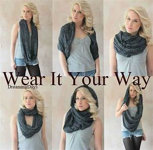 Eternity scarf, Circle scarf, Infinity, Jersey scarf, Tube ...