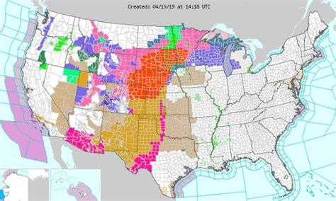 blizzard warning  effect   states  rare april