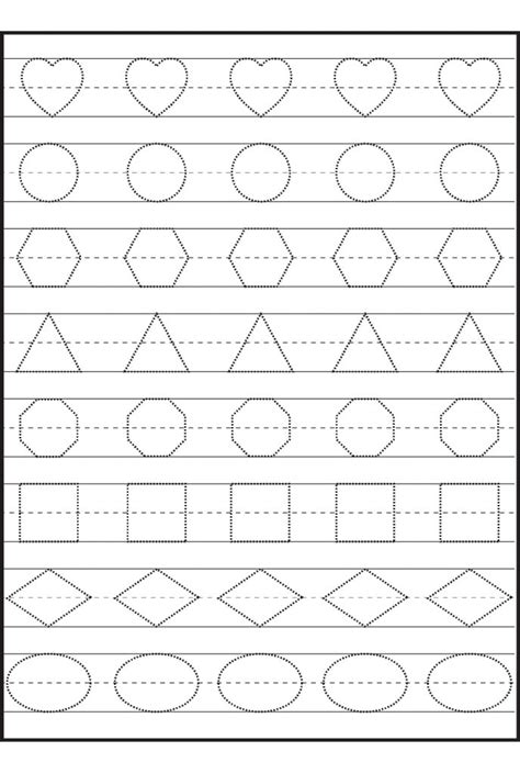 preschool tracing worksheets best coloring pages for 594 | Preschool Shapes Tracing Worksheets 688x1024
