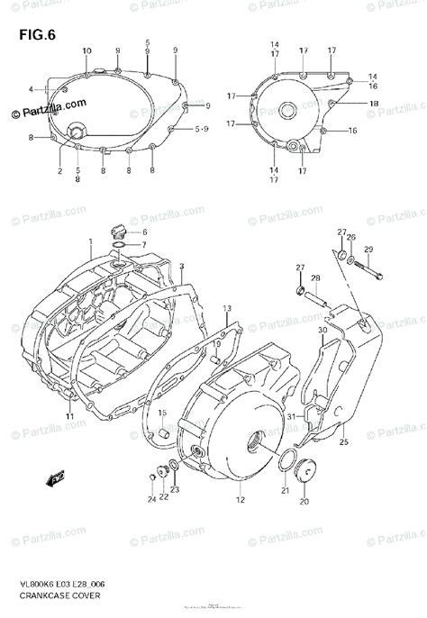 suzuki motorcycle  oem parts diagram  crankcase