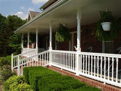 Porch Handrails by Porch Railing W Bar Y Fence Company
