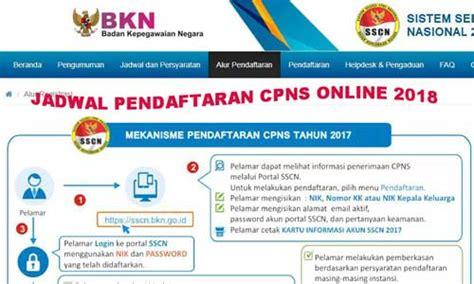 Seleksi cpns daerah pemerintah kabupaten rembang akan memasuki tahap tes kompetesi dasar (tkd). Simak Jadwal Pendaftaran CPNS Online Tahun 2018 SSCN BKN ...