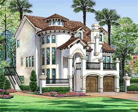 vertical mediterranean escape tx architectural designs house plans