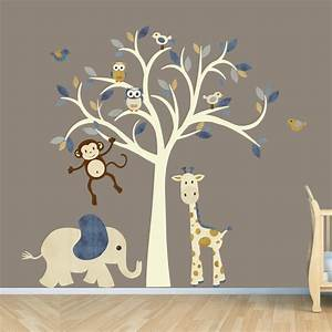 monkey wall decal jungle animal tree decal by With fantastic jungle theme wall decals for kids room
