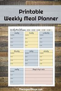Weekly Healthy Meal Planners Weekly Meal Planner Printable For Busy Families Meal
