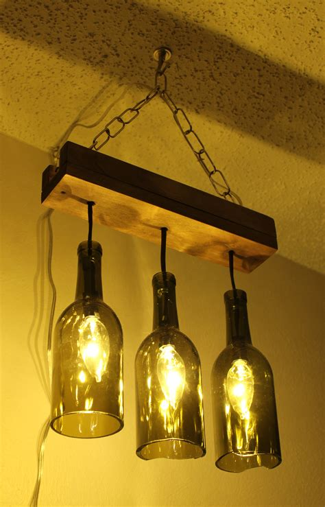 a wine bottle chandelier makes